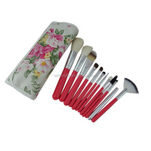 12 pieces makeup brush kit wood handle make up brush