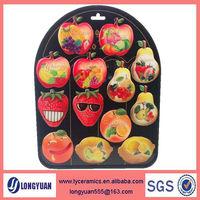 Fruit shape soft PVC souvenir epoxy fridge magnet