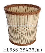 Redonda superficial cesta de mimbre