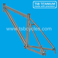2015 titanium MTB Bike Frame,Super Light Road frame,latest titan bicycle frame TSB-ODM1201