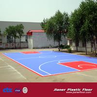Outdoor Basketball PP Interlocking Flooring Tile