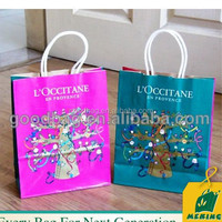 flat handle kraft paper grocery holiday gift bags