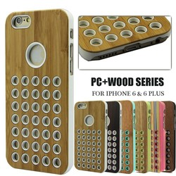 Wooden case for iphone 6 , bamboo hard cover for iphone 6 plus