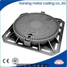 asphalt BS EN124 standard heavy duty casting iron manhole cover