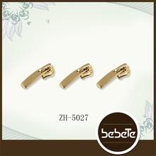 custom metal gold zipper slider