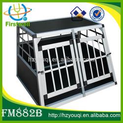 double door foldable dog kennels aluminium pet cage for sale
