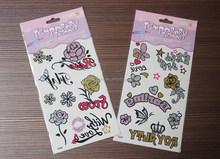 2015 hot sale eco-friendly high quality fashion glitter body tattoo stickers