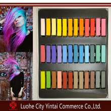 Hot selling fashion DIY temporary hair chalk pen,soft hair dye pastel,harmless hair coloring chalk in 4/6/12/24/36 color