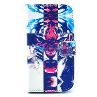 Tiger design wallet case for Moto G, Stand leather case for Moto G
