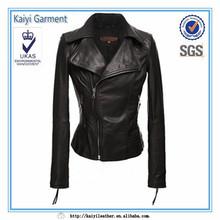leather motor jacket for women,black women fashion jacket suppliers