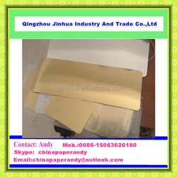 JH Series Glossy gold&silver aluminum foil paper cover for food package