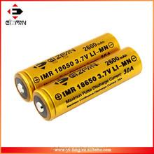 Efan IMR 18650 30A 2600mah high amp battery button top for vapor mod