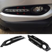 Auto 6 LED Car Daytime Running Lights DRL For Honda Vezel HRV HR-V 2014 2015