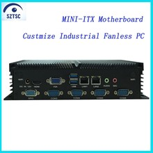 Customize Industrial PC RS232/422/485 Intel Celeron 1037u DC 12V Fanless Mini PC