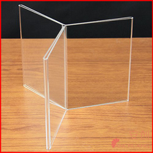 """Multi Sided Acrylic Frame - 6 sided - 7""""H x 5""""W Table tent frame"""