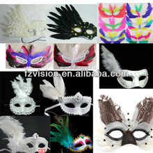 Custom Designed Carnival Feather Masks Party Mask