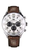 dual time zone sport chronograph sr626sw quartz 316L stainless steel fashion multifuctional man wrist watch
