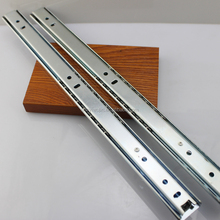 Two fold mini ball bearing steel ball telescopic channel drawer slide