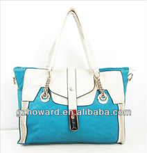 korean style hobo handbags simple bags slight blue