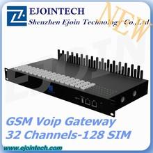 One year Warranty!! 2015 Ejoin 128 sim voip sip rotation gateway with anti sim blocking, e1 voip gateway