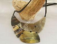 Buffalo horn necklace, horn pendant, horn chain.
