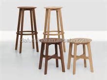 modern solid oak wood high stool bar chair club project stool