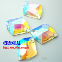 K9 quality sew on glass crystal, sew on crystal setting