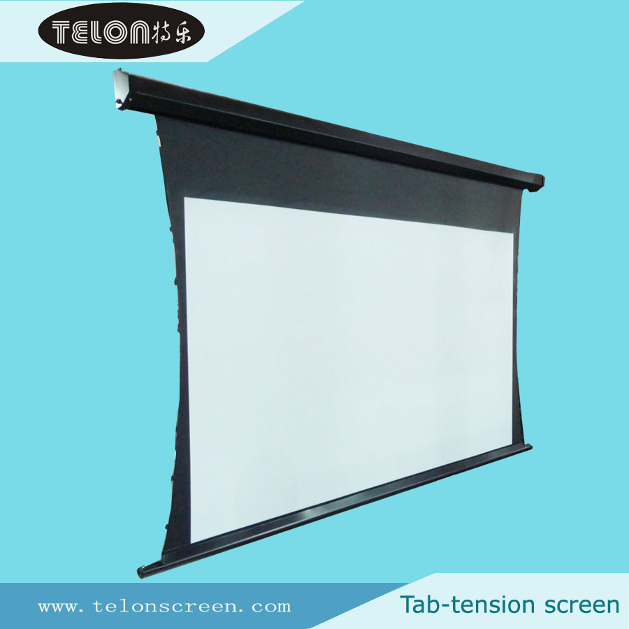 16 9 Ceiling Mount Motorized Tab Tensioned Projection