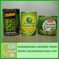Enlatados guisantes verdes, 2014 nuevos productos, conservas de alimentos procedentes de china