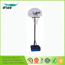 Wholesale good price best quality height adjustable and movable 5' portable outdoor basketball stand