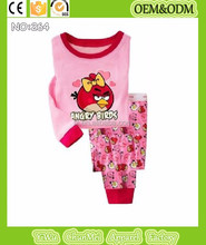 baby girls bird printed pajamas kids 100% cotton pyjamas children clothes set tees+leggings girls cute pijamas hot sell