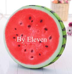 Various kinds fruits shaped seat cushion, colorful fruits stuffed watermelon cushions