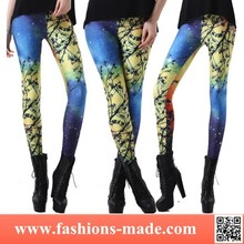Wholesale 2015 Lady Adult Hot Sex Photo Galaxy Leggings