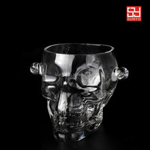 Cheap Hand Blown skull shape Glass Ice Bucket Wholesale