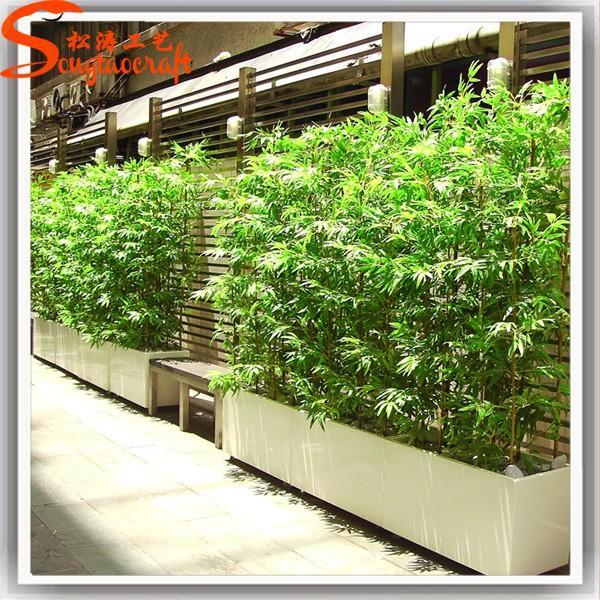 Falso verde chin s barato pl stico varas de bambu for Bordillos de plastico para jardin