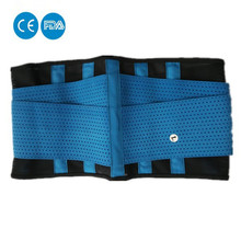 Breathable lower back support double pull strap lumbar brace posture pain belt