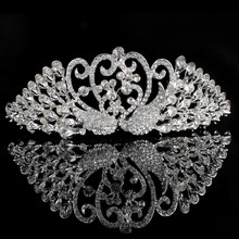 Sexy Kissing Swan love hair band Crystal hair band headband hairpieces WLHG-1025