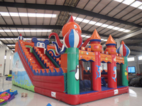 Exciting inflatable slide octopus indoor playground equipment used water slides for sale