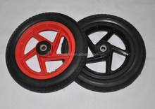 solid rubber wheels 12""
