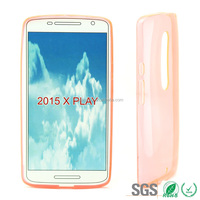 for MOTO 2015 X PLAY transparent tpu cover case for MOTO 2015 X play orange color mixcolor