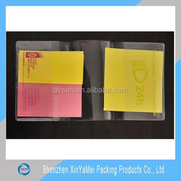 zipper document holder/vinyl lottery ticket holder