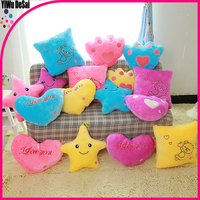 Colorful LED star pillow Hugging Pillow Romantic Gifts light cute pillow