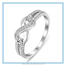 MECY LIFE factory wholesale Sterling silver and hot selling fashion high quality mirco inlay woman S925 Eternity Ring