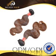Wholesale Virgin Remy Peruvian Body Wave Human Hair Extensions Dark Brown Hair