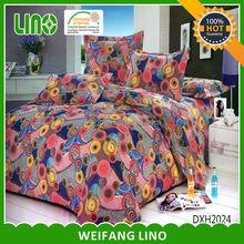 patchwork bedspread/ Stripe quilt / colored bedsheets