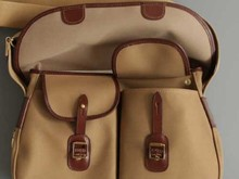 FS0021 Waterproof Canvas with Bridle-leather Trim and Brass Fittings Canvas Fishing Bag