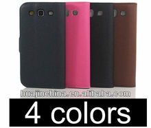 hot sales chrome gold bumper luxury leather cellphone case for s3 i9300,leather case for mobile