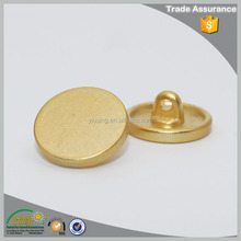 Good quality mens shirts dull gold 11mm small metal decoration button