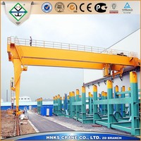 double girder semi gantry crane 100 ton