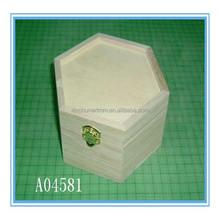 High quality wooden gift box wooden jewelry box custom shape